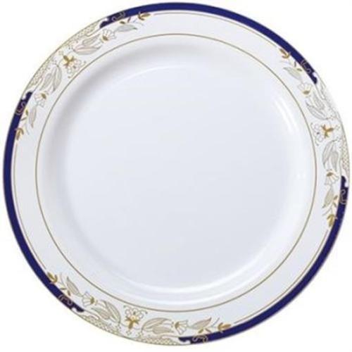 Formal Wedding Party Blue Gold Plastic Dinner Plates 10 Inch 8 PCS #partyworld  sc 1 st  Pinterest & Formal Wedding Party Blue Gold Plastic Dinner Plates 10 Inch 8 PCS ...
