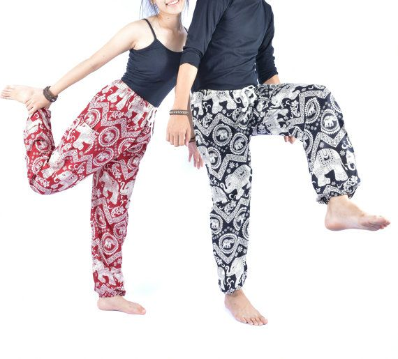 Harem pants, Unisex pants, Yoga pants, One size fits all