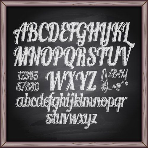 Chalkboard Fonts and Free Printable