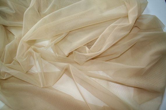 6945246ced Nude skin color stretch net 4 way tulle lycra pale skin color Bridal ...
