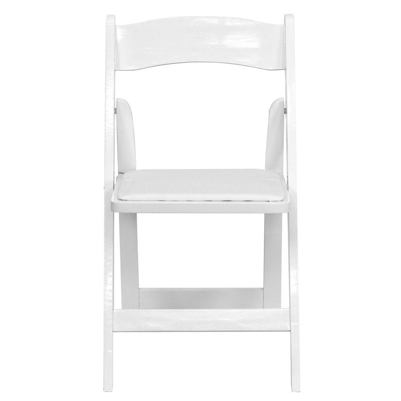 HERCULES Series White Wood Folding Chair with Vinyl Padded Seat, XF-2901-WH-WOOD-GG by Flash Furniture | BizChair.com