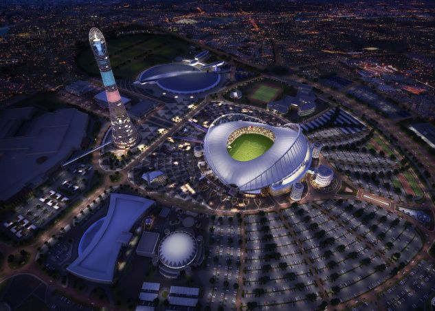 Here S A Look Inside Qatar S First 2022 World Cup Stadium World Cup Stadiums Qatar World Cup Stadiums World Cup 2022
