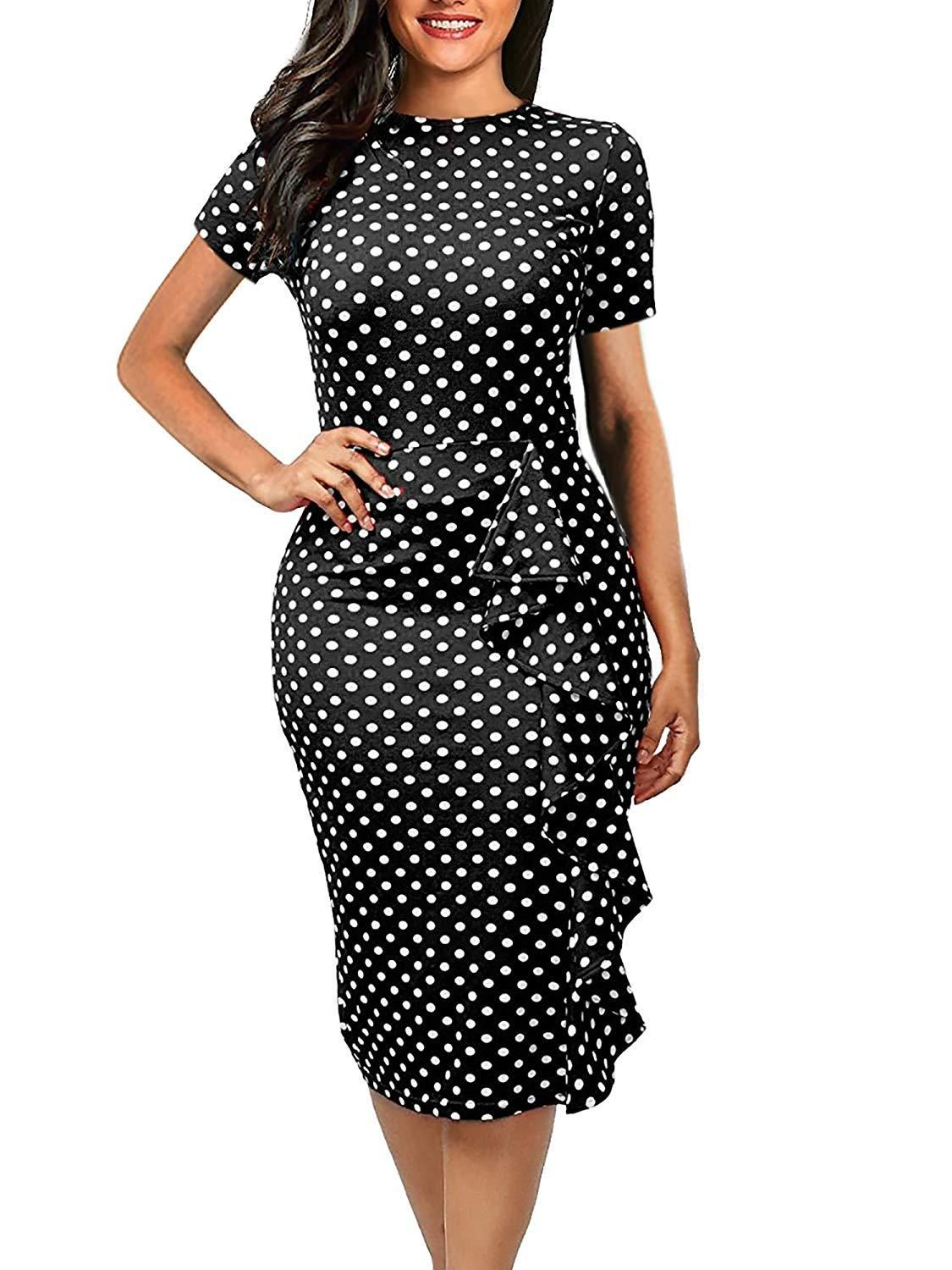 4d1258407c5e Women s Vintage Short Sleeve Slim Fit Pencil Dress in 2019 ...