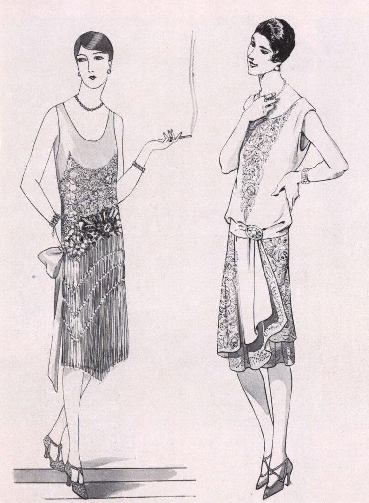 """Mara on Twitter: """"Evening dresses, 1920s.   #fashion #dress #illustration #design http://t.co/gFh5TG9JO0"""""""