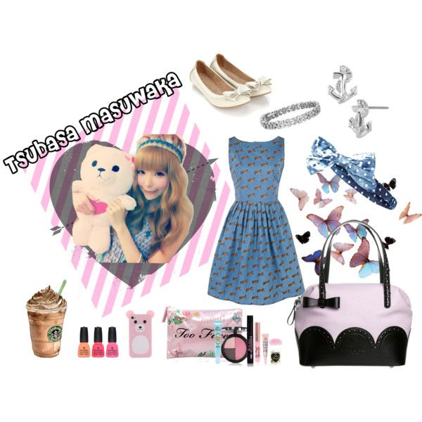 Tsubasa Masuwaka inspired by may-clover on Polyvore featuring mode, Accessorize, Tosca Blu, Betsey Johnson, Blue Nile, Too Faced Cosmetics, River Island, China Glaze and Tsubasa