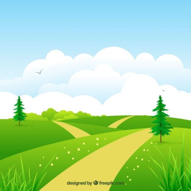Gambar Kartun Background Pemandangan Alam Pemandangan Pemandangan Khayalan Latar Belakang