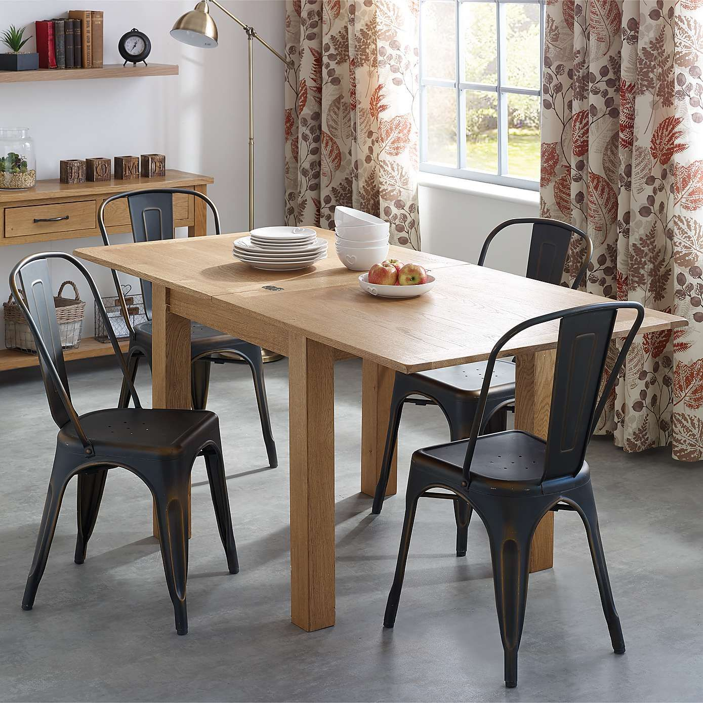 ddc8b77bfd9 Sidmouth Oak Flip Top Dining Table