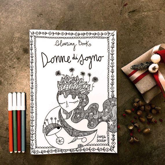 Colouring Book Donne di sogno. I libri da colorare di di Burabacio