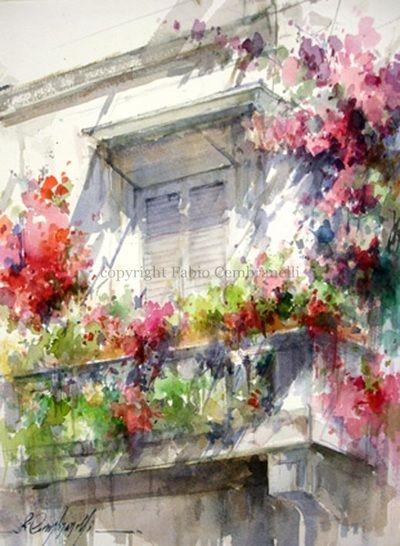 Gallery Fabiocembranelli Paesaggio Ad Acquerello Acquerello