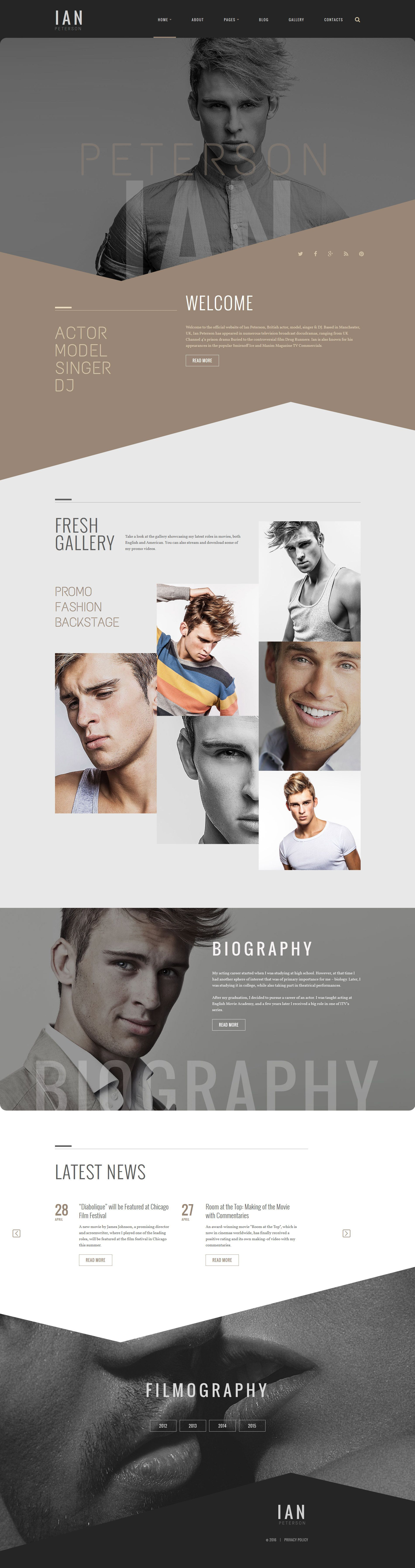 Ian Peterson Joomla Template | Template, Design layouts and Typo