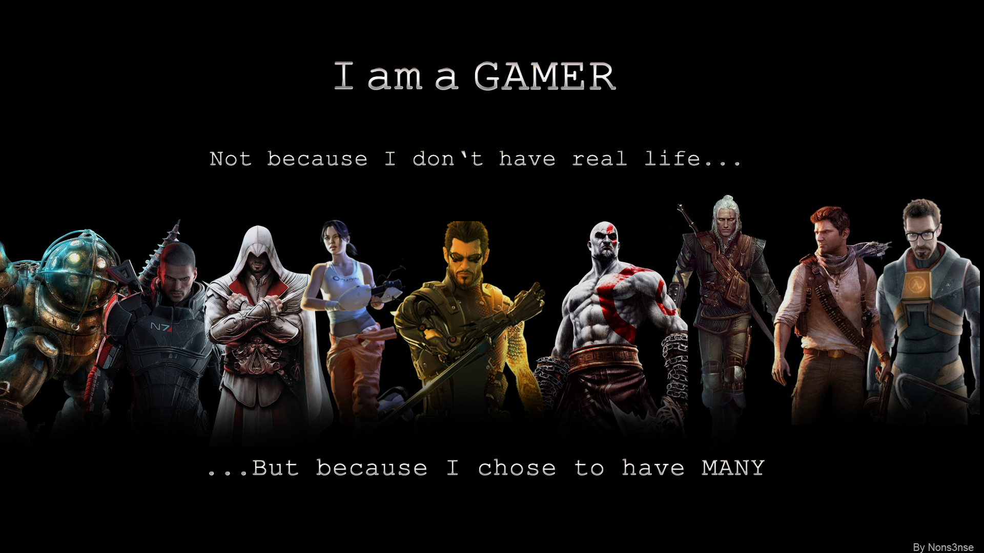 I Am A Gamer By Thenons3nse D5aomlw Png 1920 1080 Gamer Poster Hd Quotes