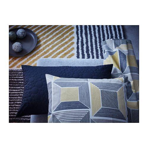 BIRKET Teppich Langflor, gelb, grau sonnige Accessoires - Wohnzimmer Gelb Grau