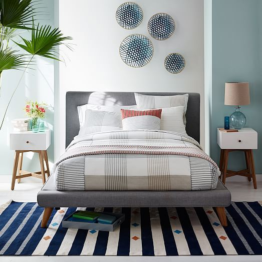 Steven Alan Mini Plaid Duvet Cover + Shams | West Elm