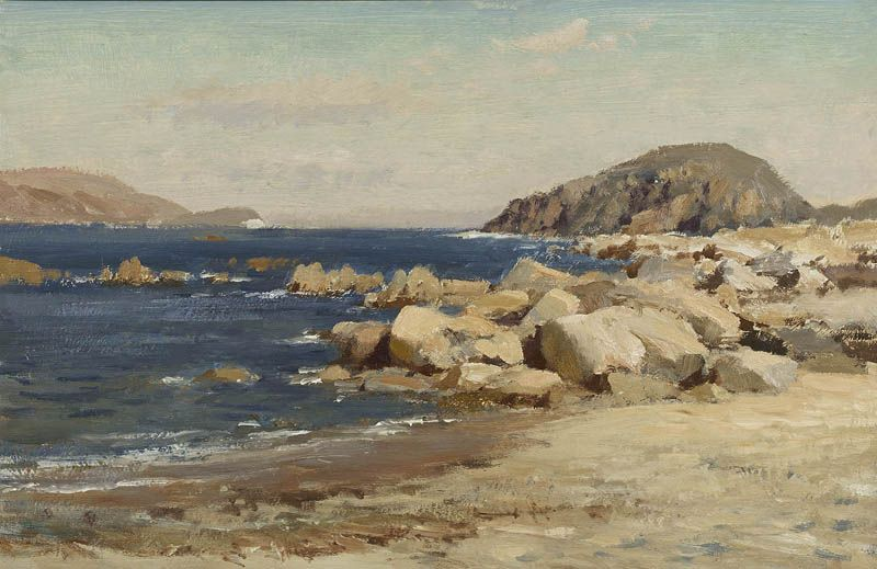 Edward Seago | (36) Rocks on the Foreshore, Sardinia