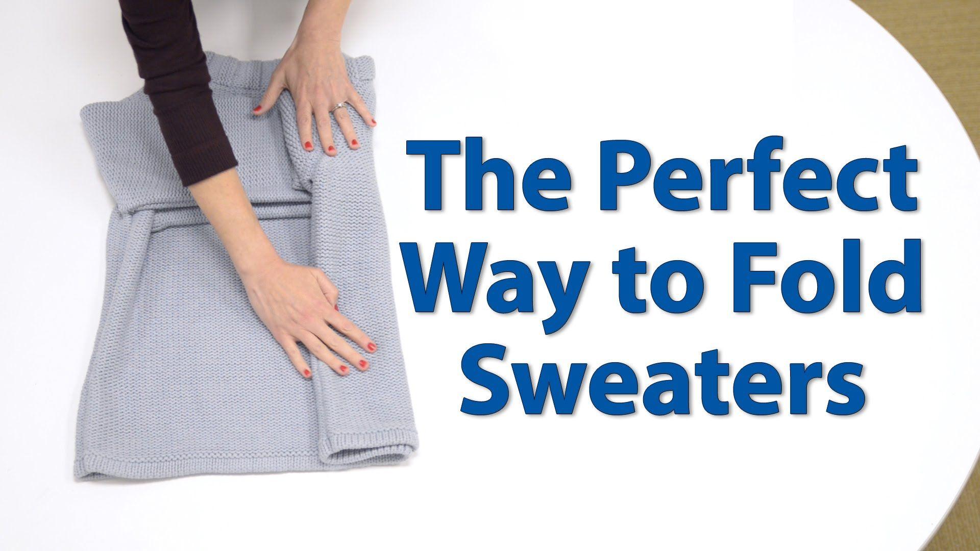 Closet Organization 101 The Best Way to Fold a Sweater