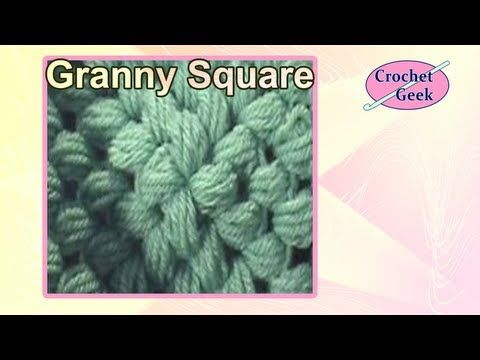 Puff Stitch Crochet Granny Square 5 Rounds - YouTube