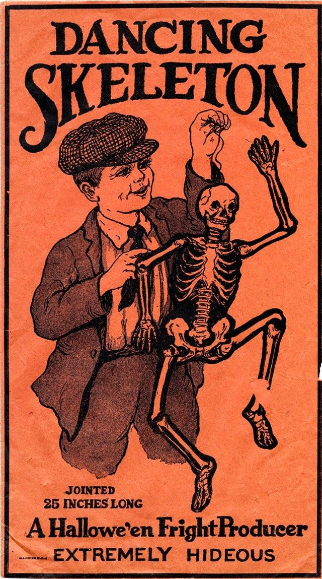 A Nostalgic Halloween Dancing Skeleton Vintage DecorationsSkeleton