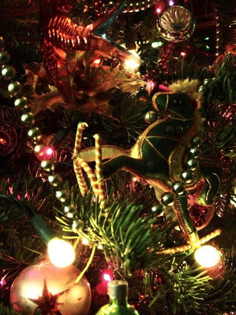 Chintz of Darkness A Blaze in the Northern Sky Christmas tree