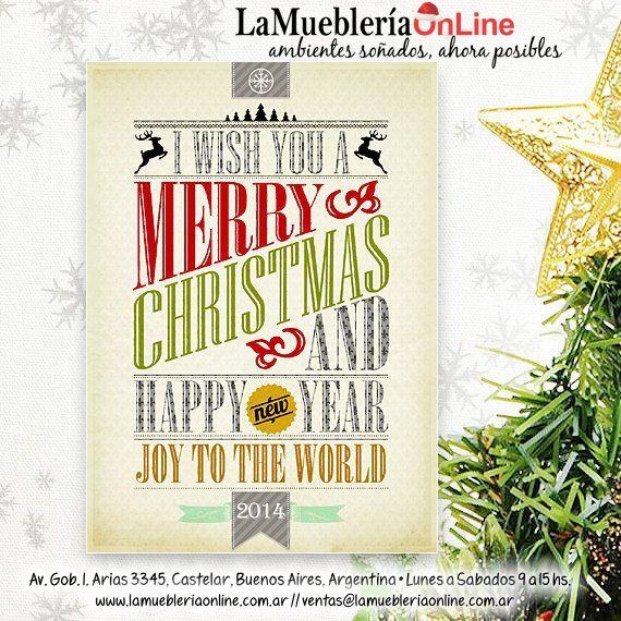 POSTALES HAPPY NEW YEAR 2014 LAMUEBLERIAONLINE