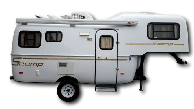 Deluxe But Lite 19u0027 Fifth Wheel RV Travel Trailers   Scamp Trailers