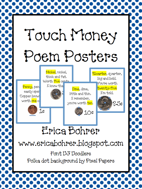 Free Touch Money Posters | Touch math, Math and Classroom freebies