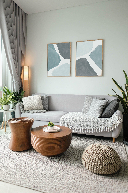 Blue Abstract Painting Modern Art Contemporary Print Etsy Living Room Decor Apartment Boho Living Room Minimalist Living Room