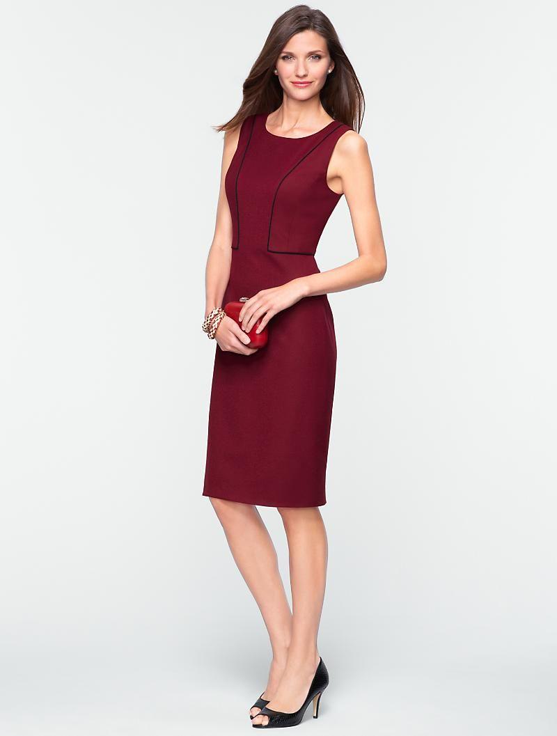 Flannel dress womens  Talbots  Italian Flannel SeamedBodice Dress  Misses  Misses