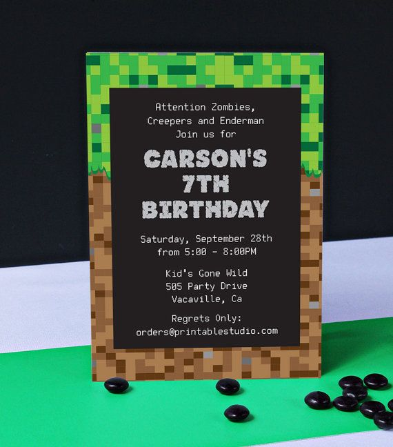 Video Game Invitation INSTANT DOWNLOAD Printable Video Game