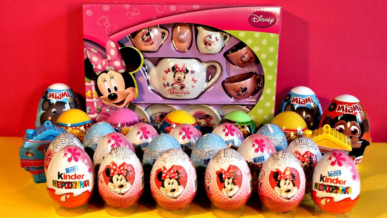 Minnie Mouse Surprise Eggs Peppa Pig Winnie The Pooh Scooby Doo