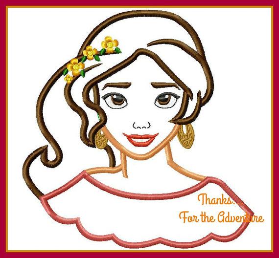 Princess Elena Of Avalor Digital Embroidery Machine Applique Design