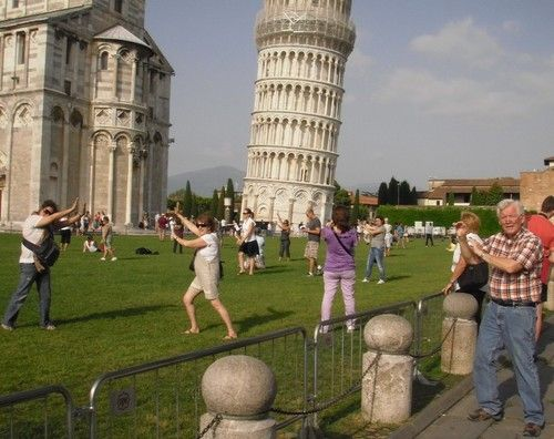 Leaning tower...