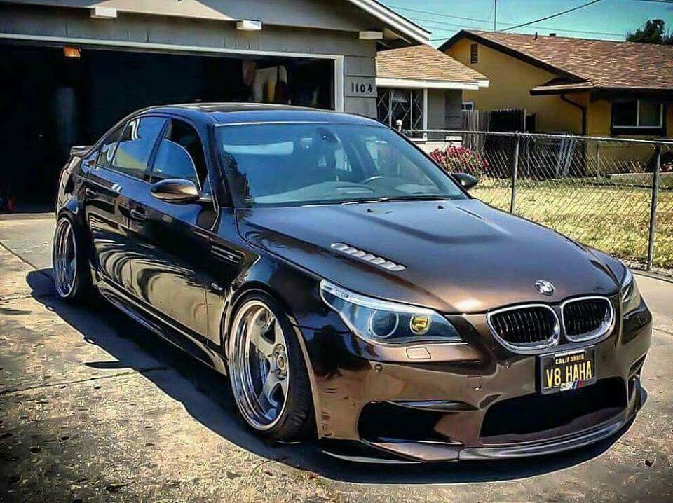 BMW E60 M5 brown slammec BMW Ultimate Driving Machine