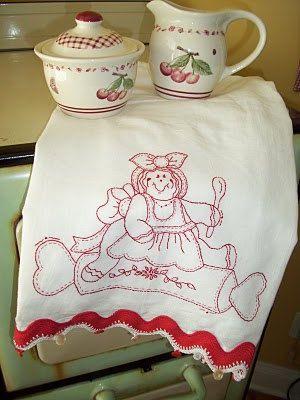 Stitching Up Dish Towels