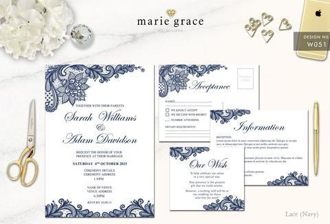 Wedding Invitations Cheap Wedding Invitations Wedding Invitation Navy W Affordable Wedding Invitations Lace Wedding Invitations Wedding Invitation Templates