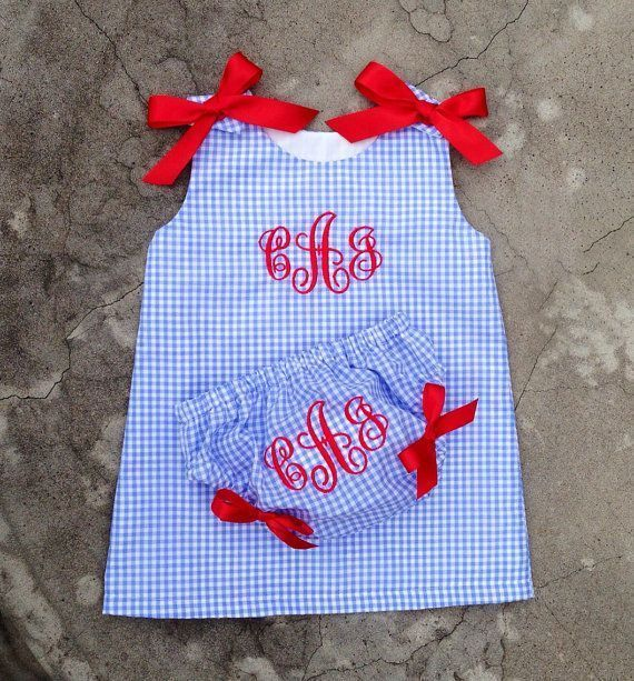 4th of july outfit  baby girl clothes  kids Outfit  monogram baby dress  baby gi... - striped dress summer outfits summer dress outfit blue summer dress outfit blue summer dress outfit outfits baby blue dress - blue dress outfit - Summer Blue Dresses 2019