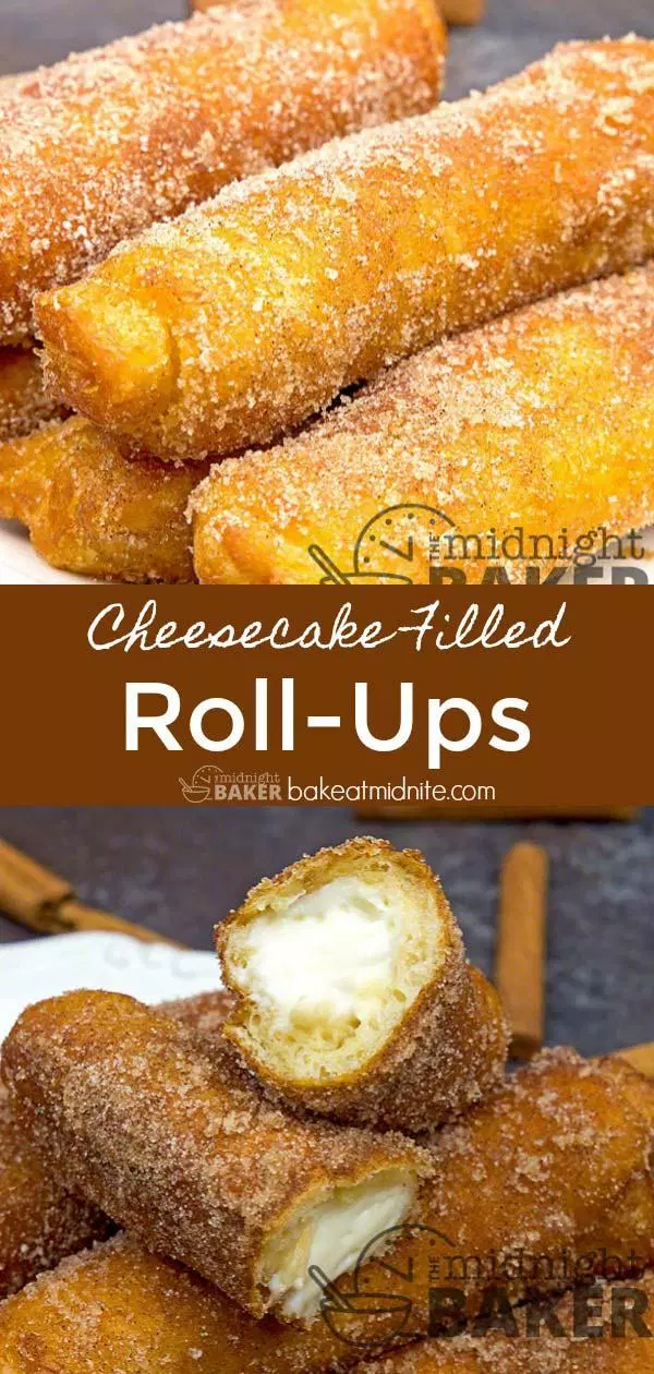 Cheesecake Filled Roll Ups - The Midnight Baker - Cheesecake Crescents