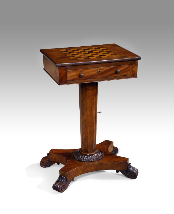Antique Chess Table With Images