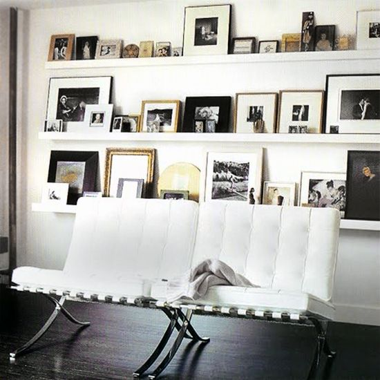 Gallery Wall Shelves white 11 x 14 photo frame, no mat french style - google search