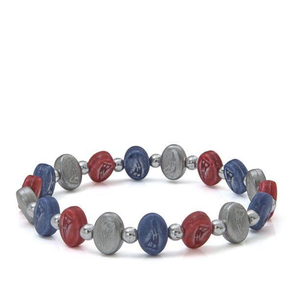 Jacmel Jewelry New England Patriots Beaded Bracelet at The Paper Store