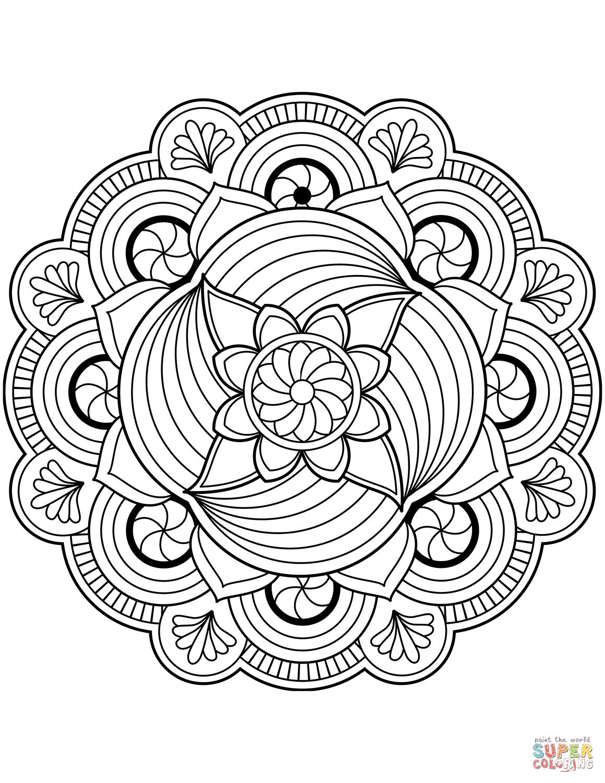 Blomster mandala tegninger | Coloring Art 2 | Mandala ...