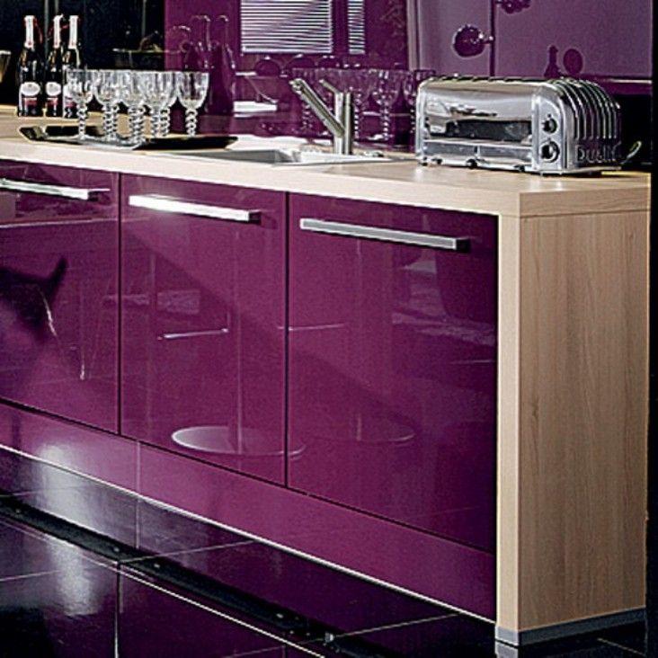 Purple Kitchen Ideas For Unique And Modern Look: Lila, Cocinas, Color