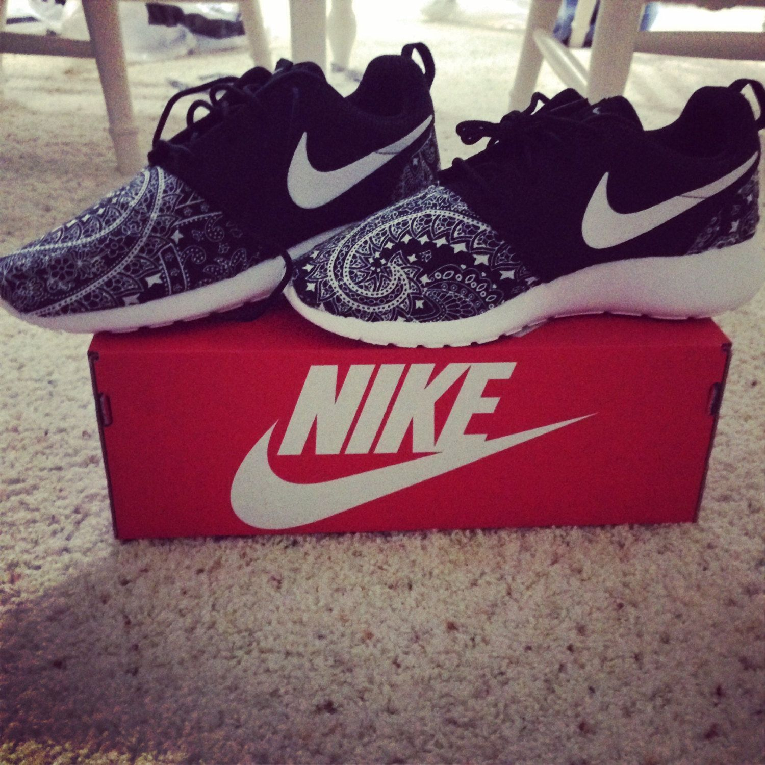 Custom designed Nike Roshe Runs by KicksByKels on Etsy, $145.00
