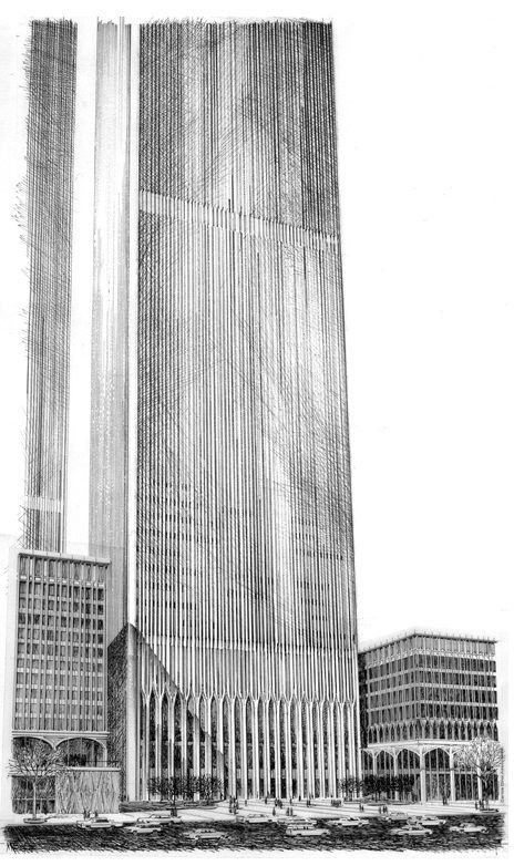 Architectural Visualization Arquitectura Torres Atentados Del 11 De Septiembre