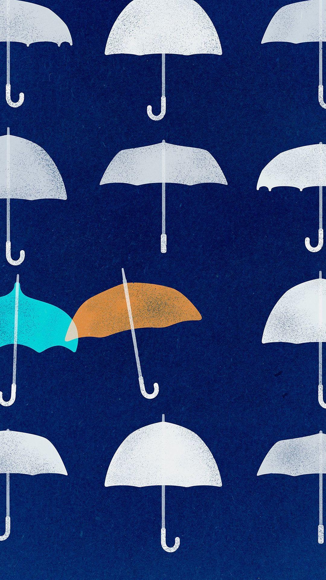Wallpaper iphone umbrella - Blue Umbrella Cute Minimal Art Disney Iphone 6 Plus Wallpaper