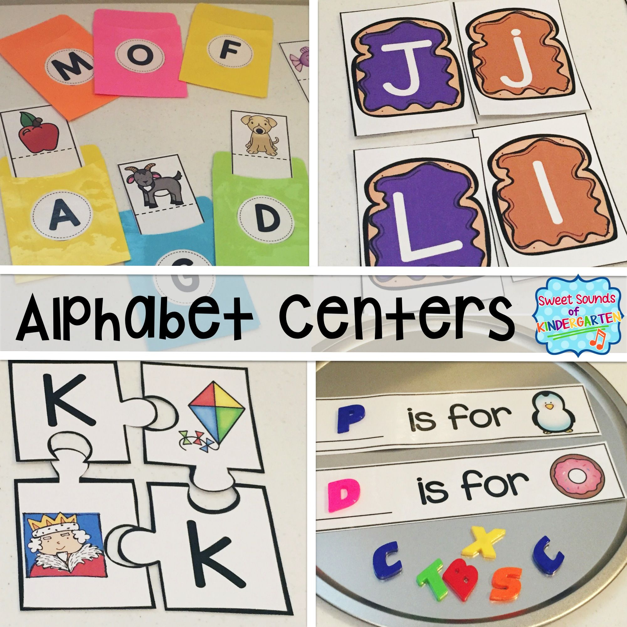 Alphabet Centers Alphabet Matching And Beginning Sound
