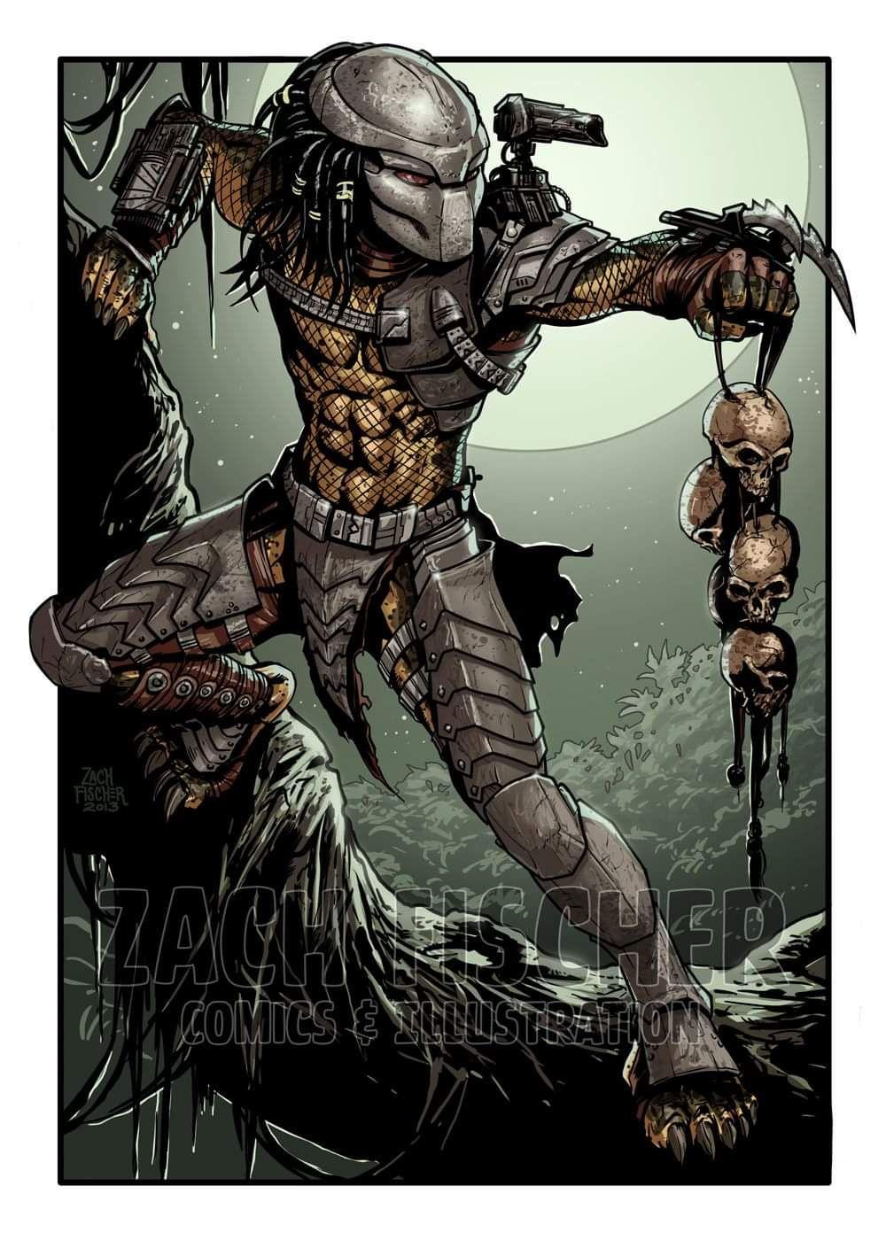 Pin by Gwar Rules on predators   Predator art, Alien vs