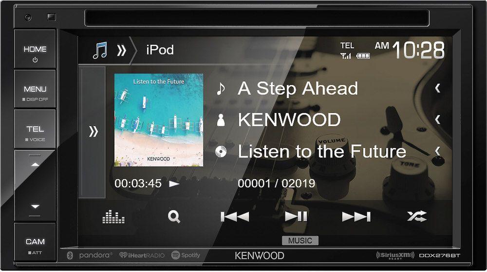 Kenwood Ddx276bt Dvd Receiver With Images Kenwood Kenwood Receiver Bluetooth Audio