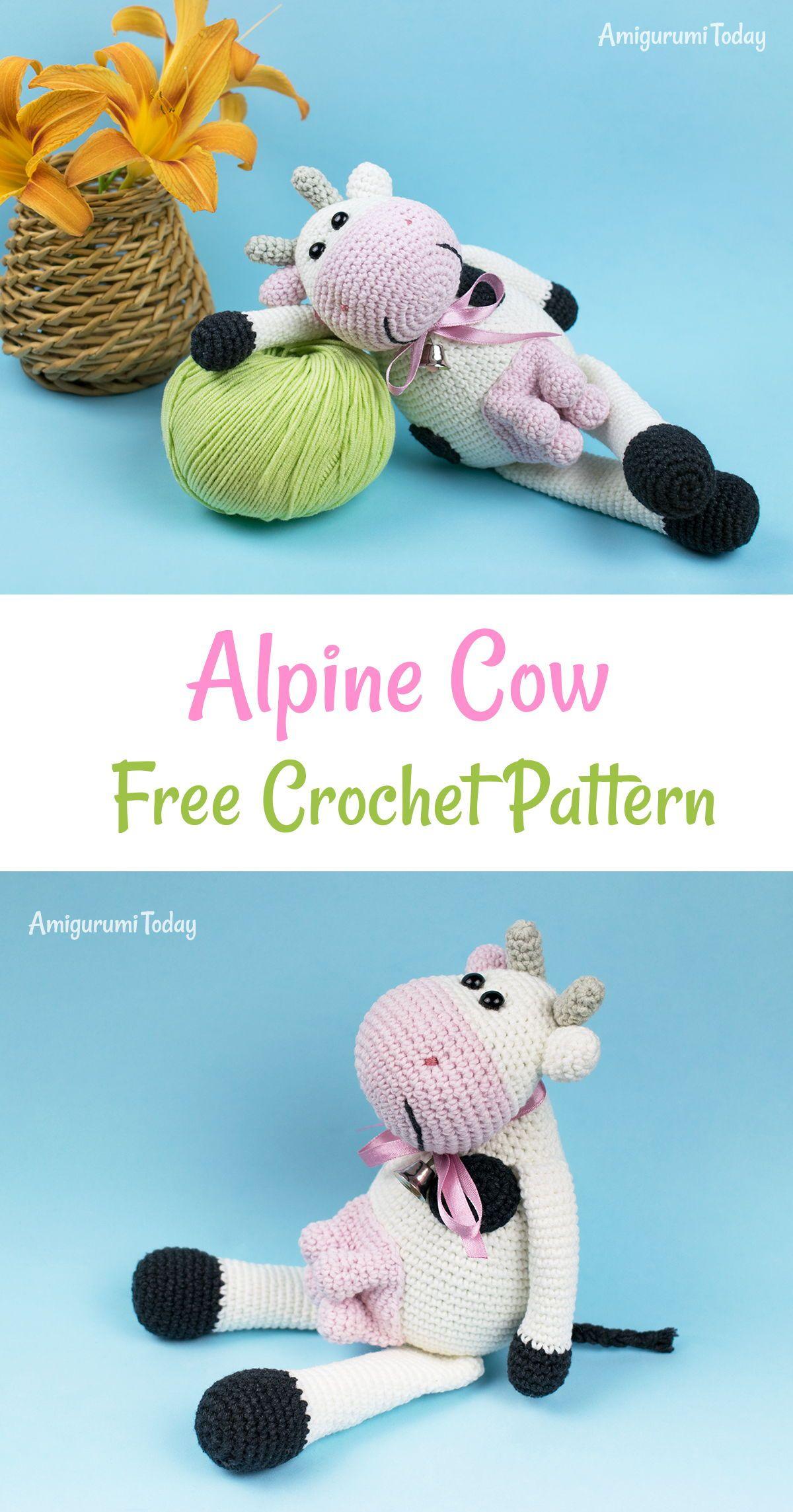Alpine Cow crochet pattern | Pinterest | Häkeln