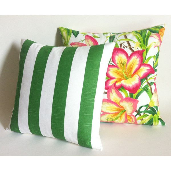 One Tropical Pink and Green Polo Lounge Pillow Cover Fuchsia Green... (58 BRL) ❤ liked on Polyvore featuring home, home decor, throw pillows, decorative pillows, green, home & living, home décor, lumbar throw pillow, pink throw pillows and fuschia throw pillow