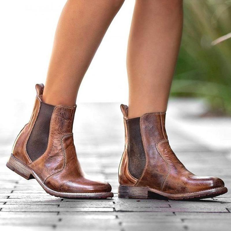 d72ba355a Shop cecilina - Women s Vintage Low Heel Plus Size Ankle Booties Slip-on  Short Chelsea Boots online. Discover unique designers fashion at cecilina .com.